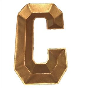 Other - Gold C Initial Metal Wall Decor